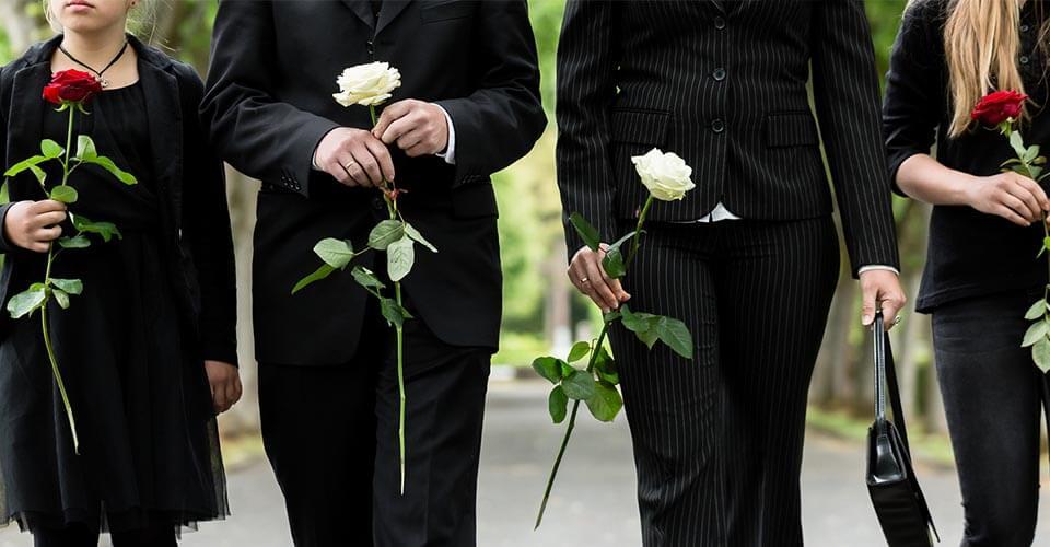 مراسم ترحیم و ختم, خاکسپاری